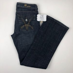 Kut from the kloth bootcut flap pocket jeans 28x31